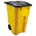 50 GAL. BRUTE ROLLOUT CONTAINER yellow - 2/Case