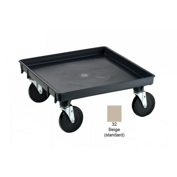 Traex® Rack-Master® Recycled Rack Dolly Base with 2 Locking Casters