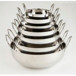 Stainless Steel Balti Dish, 10 Oz. 4 Dia.x1-3/8 H - 96/Case