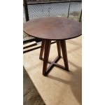 Cross base round table. Mahogany. D600x760.
