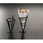 Concial Basket, Wrought Iron, Mini 3-3/8 Dia.x6-1/8 H - 24/Case