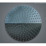 "10"" Perforated Pizza Disk - Hard Coat Anodized Aluminum - 24/Case"