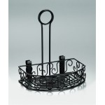 Wrought Iron Semi-Round Condiment Caddies
