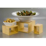 Natural Bamboo Riser Set - 3/Case