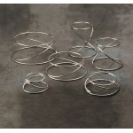 Riser, Stainless Steel, Set Of Six - 1/Case