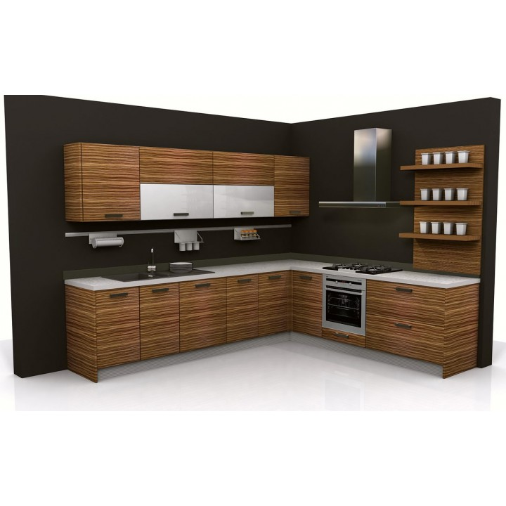 Particle board kitchen