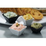 Sauce Cup, Melamine, Square, Black, 2.5 Oz. - 96/Case