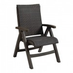 Chair, Java All-Weather Wicker Espresso - 2/Case
