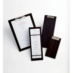 "12.5""x4.5"" Check Presenter, Wood, Espresso - 48/Case"