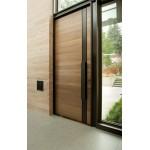 Modena mahogany entry door. Solid core.
