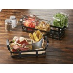 Condiment Rack, Black, 9 9 Lx6 Wx3-1/2 H - 12/Case