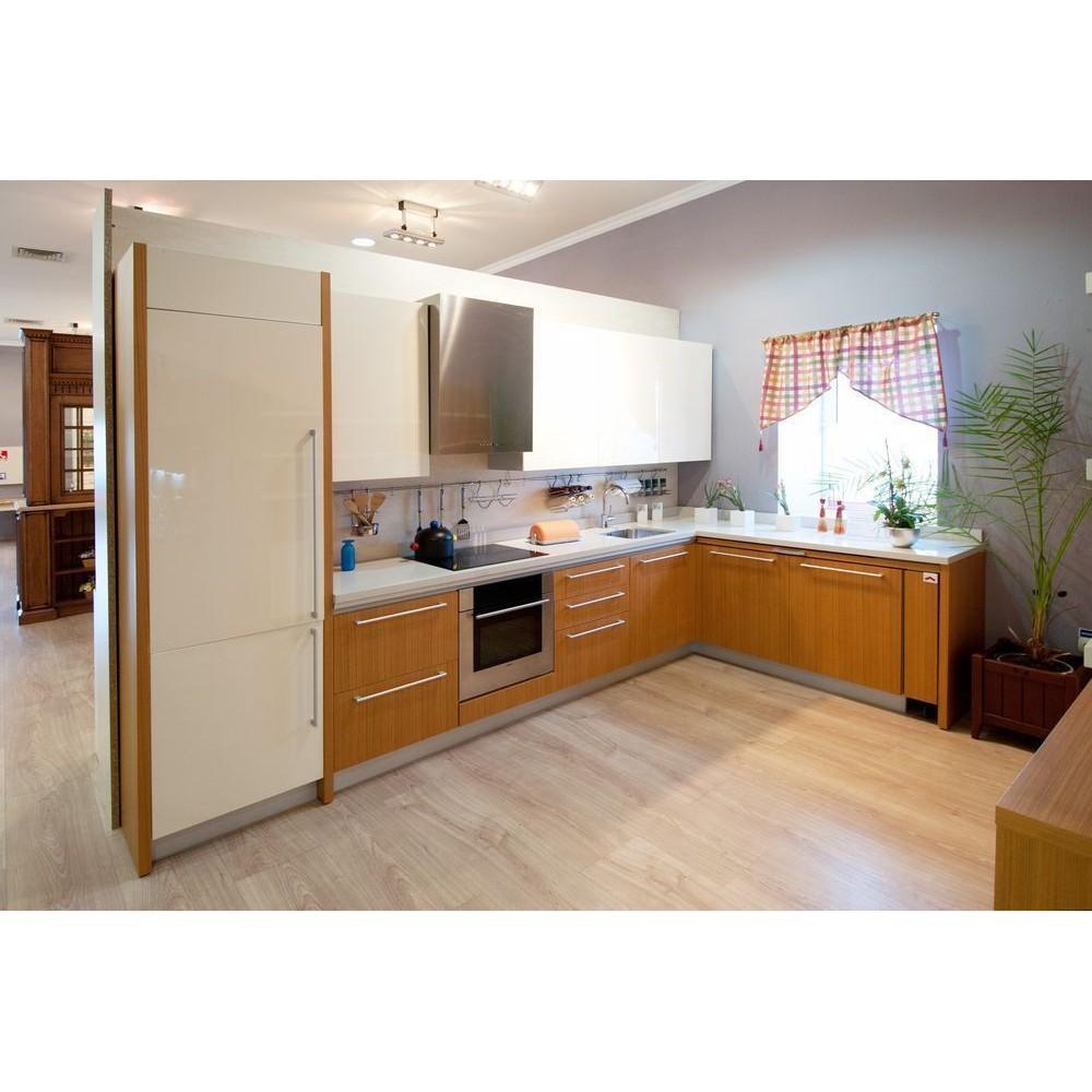 Kitchen Hpl: Teak Inspired Kitchen Type 2. HPL