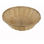 "9"" x 2.75"" Poly Woven Baskets, Round, Natural - 12/Case"