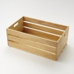 Wooden Crate, Natural, Full-Size 20-1/2 Lx12-1/2 Wx8 H - 2/Case