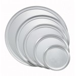 "10"" Wide Rim Pizza Tray, Alu - 36/Case"