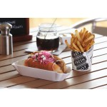 MELAMINE HOT DOG PAPER TRAY 8-1/8 L X 3 W X 1-1/2 H