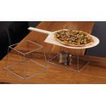 STAND, SQUARE, STAINLESS STEEL 9 L X 6 W TOP X 11 L X 8 W BOTTOM X 7 H