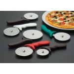 Pizza Cutter, Plastic Handle W/White Handle, 4 Dia. 4 Dia. Wheel W/ White Handle - 72/Case