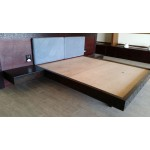 Islander's king size bed. Mahogany.