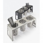 Cal-Mil 1608-55 Squared Cylinder Display (Stainless Steel)