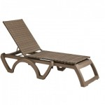 Chaise, Java All Weather Wicker Mocaccino - 12/Case