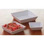 MELAMINE BOWL, SQUARE-SHALLOW, 16 OZ. 6 SQ. X 2 H