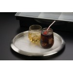 BAR TRAY, STAINLESS STEEL, 14 DIA.