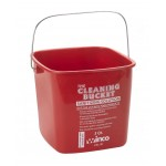 3 Ltr Cleaning Bucket, Sanitizing Solution, Red - 12/Case