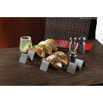 Five Compartments Taco Holder, S/S, Silver - 36/Case