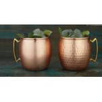 Moscow Mule Mug, Hammered, Black/Brass, 16 Oz. 16 Oz., 3-3/4 Dia.x4-3/4 H - 24/Case