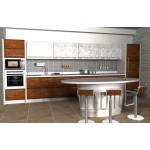 Kitchen unit - mahogany and high gloss.
