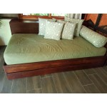 Mahogany Roll out bed base without headboard.