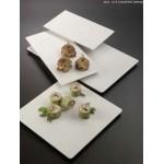 Melamine Platter, Square, Flat 14-3/8 Lx14-3/8 Wx3/4 H - 8/Case