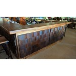 Tokoriki bar counter. Custom design. Raintree, coconut, ply, pine