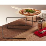 "12""x12""x7"" Universal Pizza Stand, Black - 24/Case"
