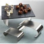 Riser Set, Stainless Steel, Satin 8.25 Lx4 Wx2 H, 10.5 Lx5.25 Wx4 H, 12.5 Lx6 Wx6.5 H - 6/Case