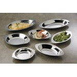 12 Oz. Au Gratin Dish, Stainless Steel, Oval - 144/Case