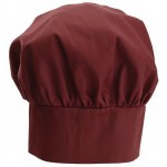 "13"" Chef Hat, Velcro Closure, Burgundy - 24/Case"