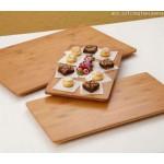 """21.5""""x13"""" Platter, Bamboo, Brown - 6/Case"""