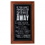 Cal-Mil 3031-811 Chalkboard Signs (8.5Wx11H - Pre-printed 'If You Can't Stay, Take Me Away')