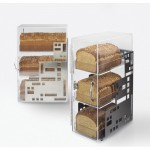 Cal-Mil 1614-55 Squared Acrylic Bread Case (Stainless Steel)