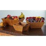 Bamboo Bowl, Square, 228 Oz. 12 Lx12 Wx4-1/2 H - 6/Case
