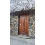 Chief exterior door. Ply, mahogany.