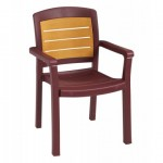 Dining Armchair, Aquaba Classic Bordeaux - 4/Case