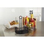 CONDIMENT RACK, SEMI-ROUND, BLACK 5-5/8 L X 8 W X 9-1/8 H