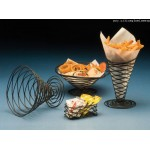 Conical Basket, Birdsnest, Black, 9 Dia. 9 Dia.x4 H - 12/Case