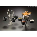 Conical Basket, Stainless Steel, Three-Cone Basket W/ Three Ramekins 5 Dia.x9 H - 12/Case