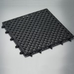 "12"" Square Bar Tile, Vinyl, Black - 24/Case"