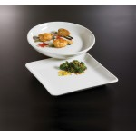 "14.25""x14.25"" Platter, Ceramic, White - 1/Case"