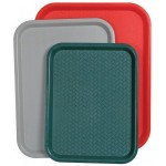 "14"" x 18"" Fast Food Tray, Red - 12/Case"